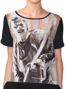 Leatherface Chiffon Top