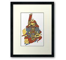 Avenging Samurai Pikachu Framed Print