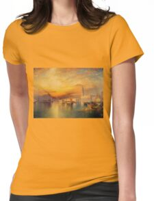 Thomas Moran - Grand Canal, Venice 1898. Mountains landscape: mountains, rocks, rocky nature, sky and clouds, trees, peak, forest, Canyon, hill, travel, hillside Womens Fitted T-Shirt