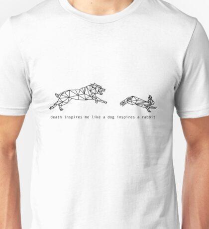 'Death inspires me like a Dog inspires a Rabbit' - HeavyDirtySoul (Twenty One Pilots lyric) Unisex T-Shirt