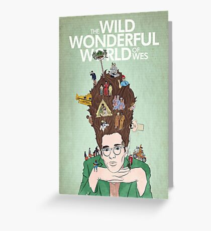 Wild Wonderful World of Wes Anderson Greeting Card