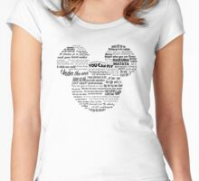 Mouse quotes Women's Fitted Scoop T-Shirt