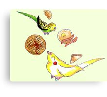 Breakfast Birds Metal Print