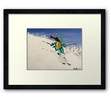 SkiDino Framed Print