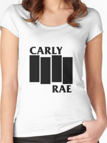 Carly Rae Black Flag Women's Fitted Scoop T-Shirt