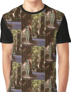 Alien Vacation - Redwoods California Graphic T-Shirt