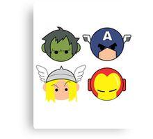 Avengers Cartoon Canvas Print