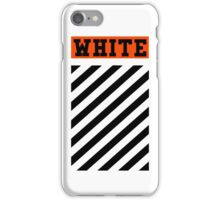 Off White Logo in Orange (White) iPhone Case/Skin