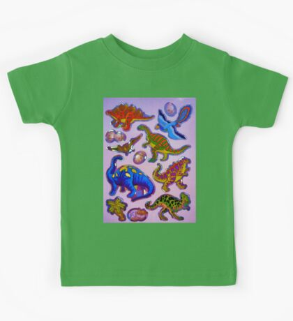 Several colorful dinosaurs Kids Tee