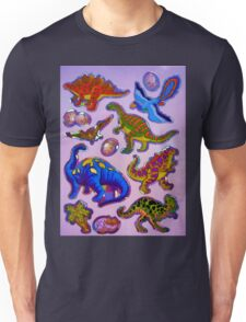 Several colorful dinosaurs Unisex T-Shirt