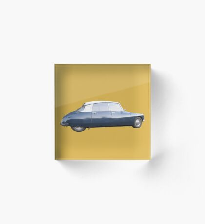 CITROEN DS vintage Spicy Mustard Acrylic Block