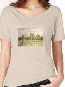 Plein Air Painting At Cowdray House Ruins Sussex Women's Relaxed Fit T-Shirt