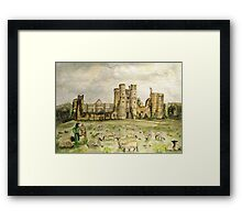 Plein Air Painting At Cowdray House Ruins Sussex Framed Print
