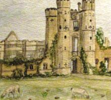 Plein Air Painting At Cowdray House Ruins Sussex Sticker