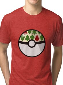 Christmas Pokeball Tri-blend T-Shirt