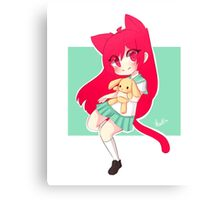 Chibi Neko Canvas Print