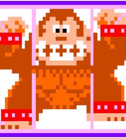 Donkey Kong Caged - Donkey Kong Jr. Arcade Game Sticker