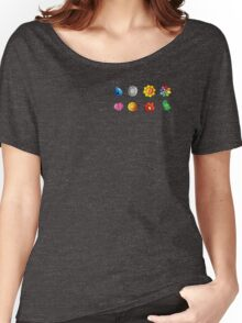 Pokemon Gym Badges Women's Relaxed Fit T-Shirt