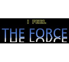 Star Wars - I Feel The Force, black background Photographic Print