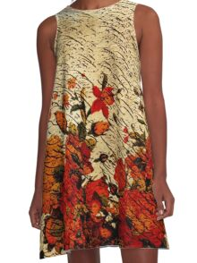 """""""Classic Calligraphy"""" 2 A-Line Dress"""