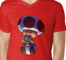 It's a Toad-Eat-Shroom world! Mens V-Neck T-Shirt