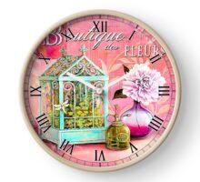 021 Wall Clock Flower Nursery and Vase Clock