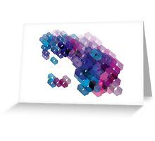 3D-blocks Greeting Card