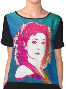 River Song Doctor Who Pop Art Chiffon Top