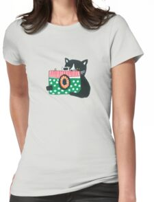 Photographer Cat Womens Fitted T-Shirt