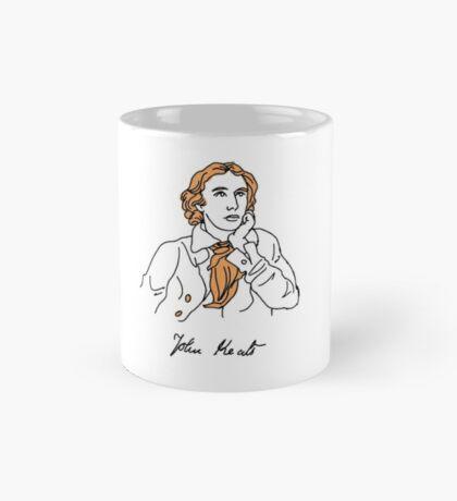 John Keats stencil Mug