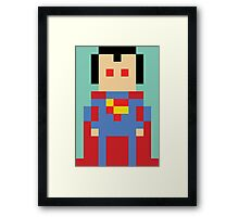 8-Bit Superman Framed Print