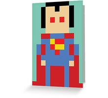 8-Bit Superman Greeting Card