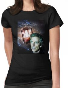 Somewhere...  (Dr. Who) Womens Fitted T-Shirt