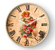 025 Wall clock Girl with flowers Clock