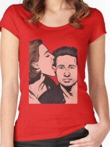 Mulder and Scully X Files Women's Fitted Scoop T-Shirt