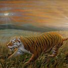 Tiger - Oil on canvas 2015 by Simon Groves