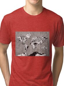 world map Tri-blend T-Shirt