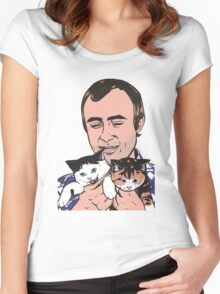 Phil Collins Kitties Women's Fitted Scoop T-Shirt