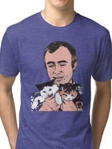 Phil Collins Kitties Tri-blend T-Shirt