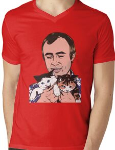 Phil Collins Kitties Mens V-Neck T-Shirt