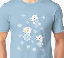 Three Feline Snowflake Pals Unisex T-Shirt