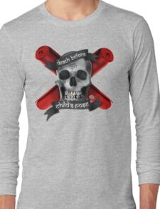 Yoga: Death Before Childs Pose Long Sleeve T-Shirt