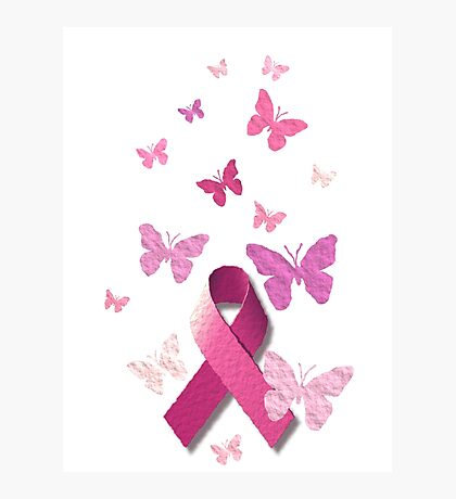 Breast Cancer Pink Awareness Ribbon Photographic Print