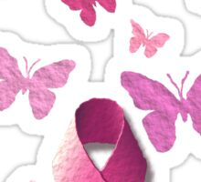 Breast Cancer Pink Awareness Ribbon Sticker