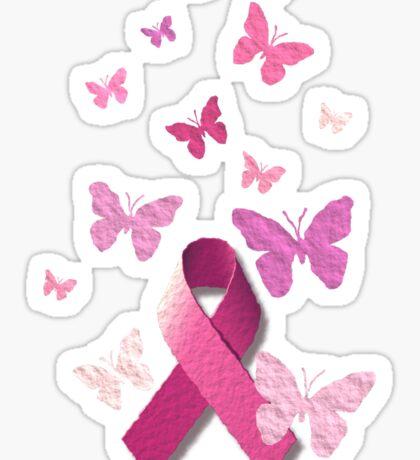 Breast Cancer Pink Awareness Ribbon Sticker