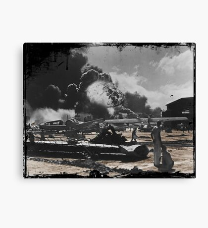 Air Base After Pearl Harbor WWII Canvas Print