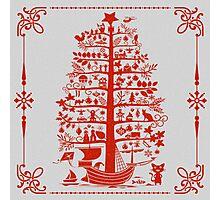 Funny Christmas Tree Photographic Print