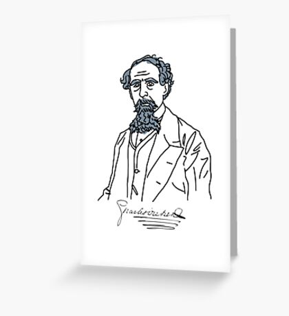 Charles Dickens stencil Greeting Card