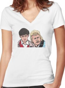 Troy and Zap Rowsdower Women's Fitted V-Neck T-Shirt