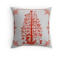 Funny Christmas Tree Throw Pillow